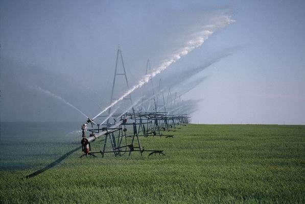 L'irrigation consommerait environ 92 % des eaux souterraines captées dans le monde. © Paulkondratuk3194, Wikimedia common, CC-by-sa-3.0