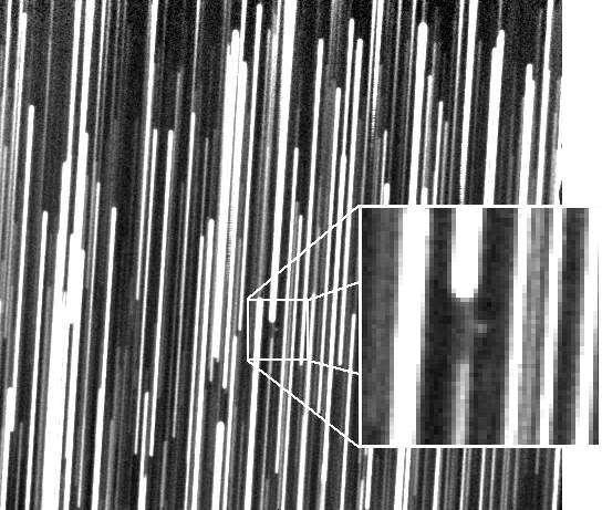 Image de 6R10DB9 prise le 20 mars 2007 par le télescope Schmidt-Cassegrain de 0,40 m f/6 du Great Shefford Observatory. Magnitude +19,3 - pose 17 mn 36 sec.