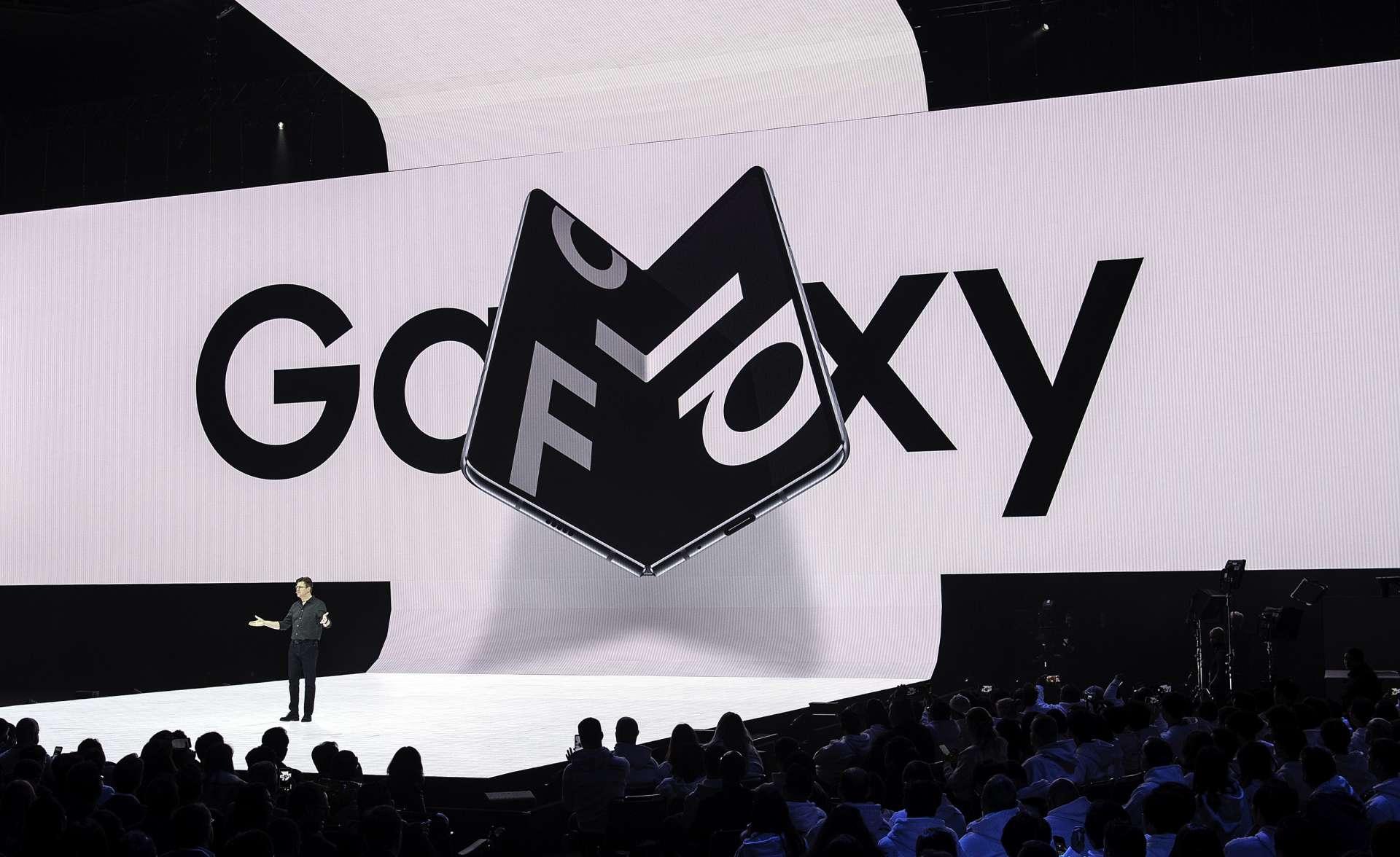 Le Galaxy Fold de Samsung sera commercialisé dès le 6 septembre en Corée du Sud, le 18 septembre en France. © Josh Edelson / AFP