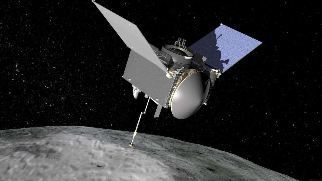 La sonde de la Nasa Osiris-Rex s'est placée en orbite autour de l'astéroïde Bennu le 31 décembre 2018. © Nasa