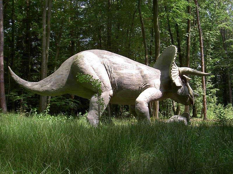 Une maquette de tricératops, au Styrassic Park, en Autriche. Source Commons