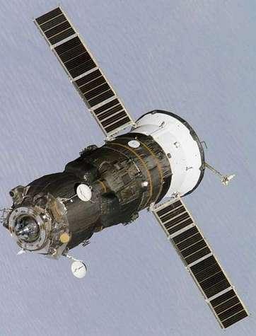 Un vaisseau Progress en approche de l'ISS. Crédit NASA.