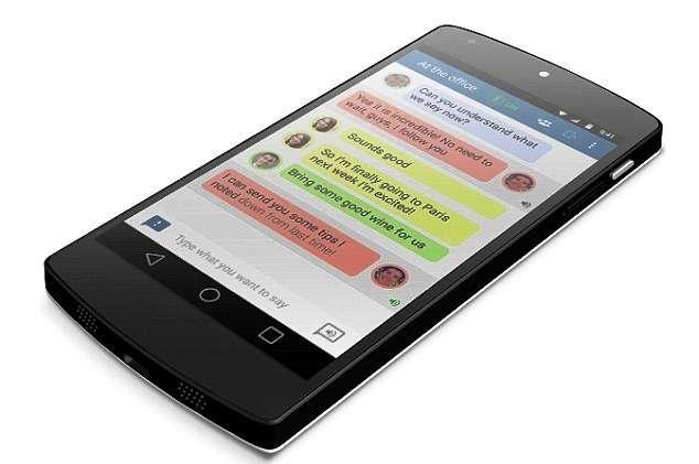 Un exemple de l'application de Transcense à l'œuvre sur l'écran d'un smartphone. © Transcense