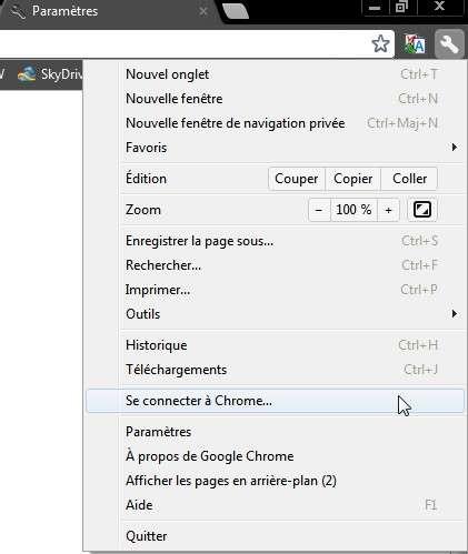 Pour activer la synchronisation, il faut posséder un compte Google auquel on connecte Chrome 19 afin que toutes les modifications et les réglages du navigateur soient sauvegardés en ligne. © Marc Zaffagni/EP/FS