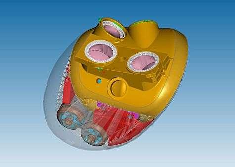 Le cœur Carmat en CAO. Crédit Carmat