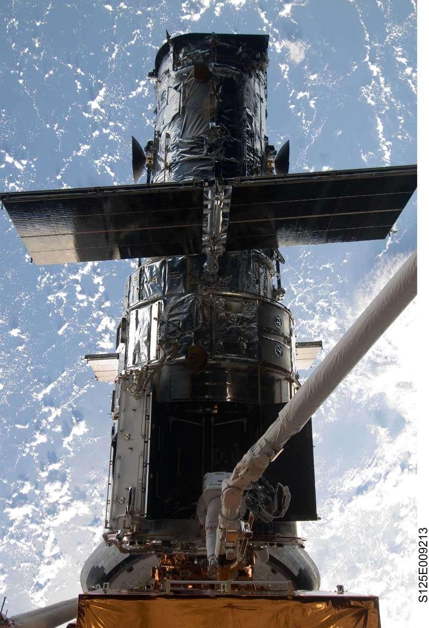 Journée portes ouvertes pour Hubble. Crédit Nasa