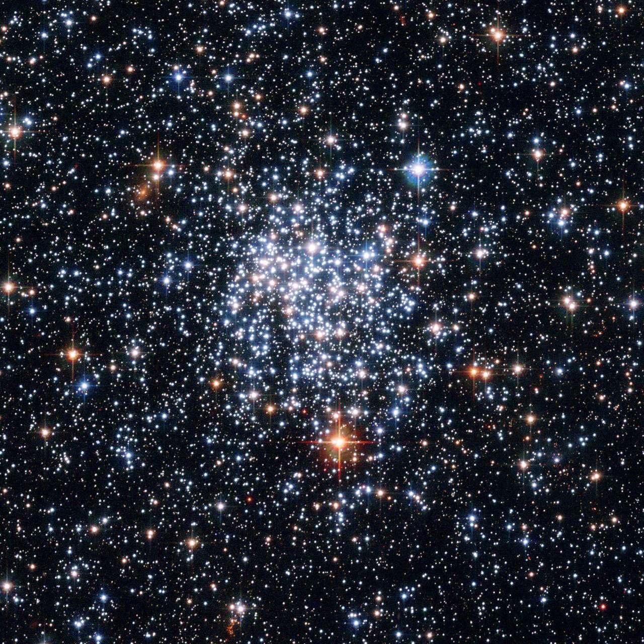 On voit ici l'amas ouvert NGC 265 observé par Hubble. Il se trouve dans le petit Nuage de Magellan. © Nasa, Esa