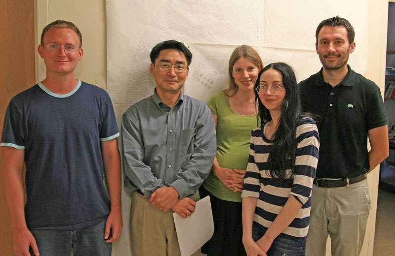 Quelques-uns des nombreux membres de la collaboration Babar : Chris West, Peter Kim, Silke Nelson, Véronique Ziegle, Philippe Grenier. Crédit : SLAC