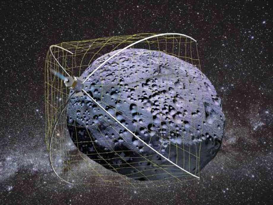 La capture d'un petit astéroïde est la grande idée du moment à la Nasa. Un projet d'utilisation d'un filet a reçu un financement du Niac pour en démontrer la faisabilité. © Nasa/Tethers Unlimited