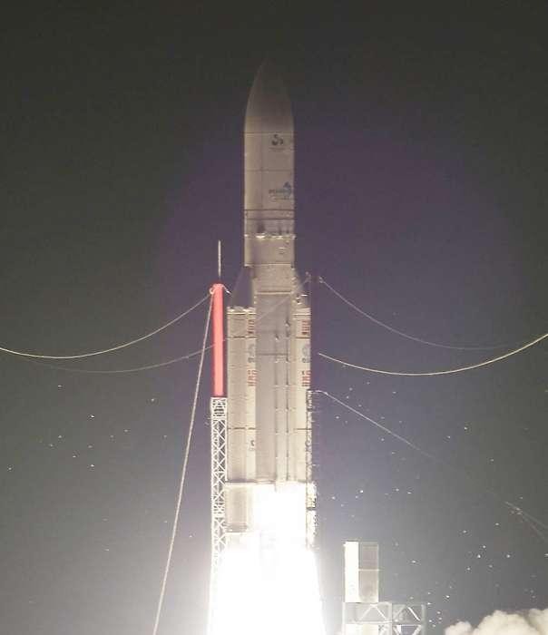 Décollage le 21 août au soir d'Ariane 5. Crédits Arianespace