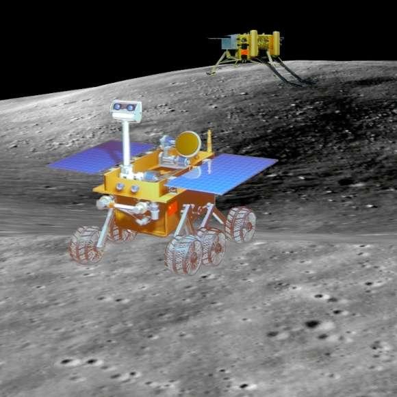 Troisième mission chinoise à destination de la Lune, Chang'e 3, dont le lancement est prévu en fin d'année, comporte l'atterrissage d'un rover. Une performance technologique qui signera un nouveau progrès spatial chinois et confirmera à ce pays son statut de troisième puissance spatiale. © CNSA