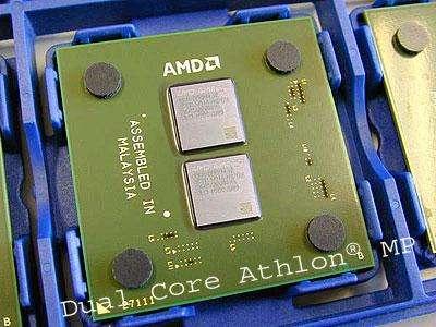 Processeur AMD actuel à double cœur. Crédit : AMD.