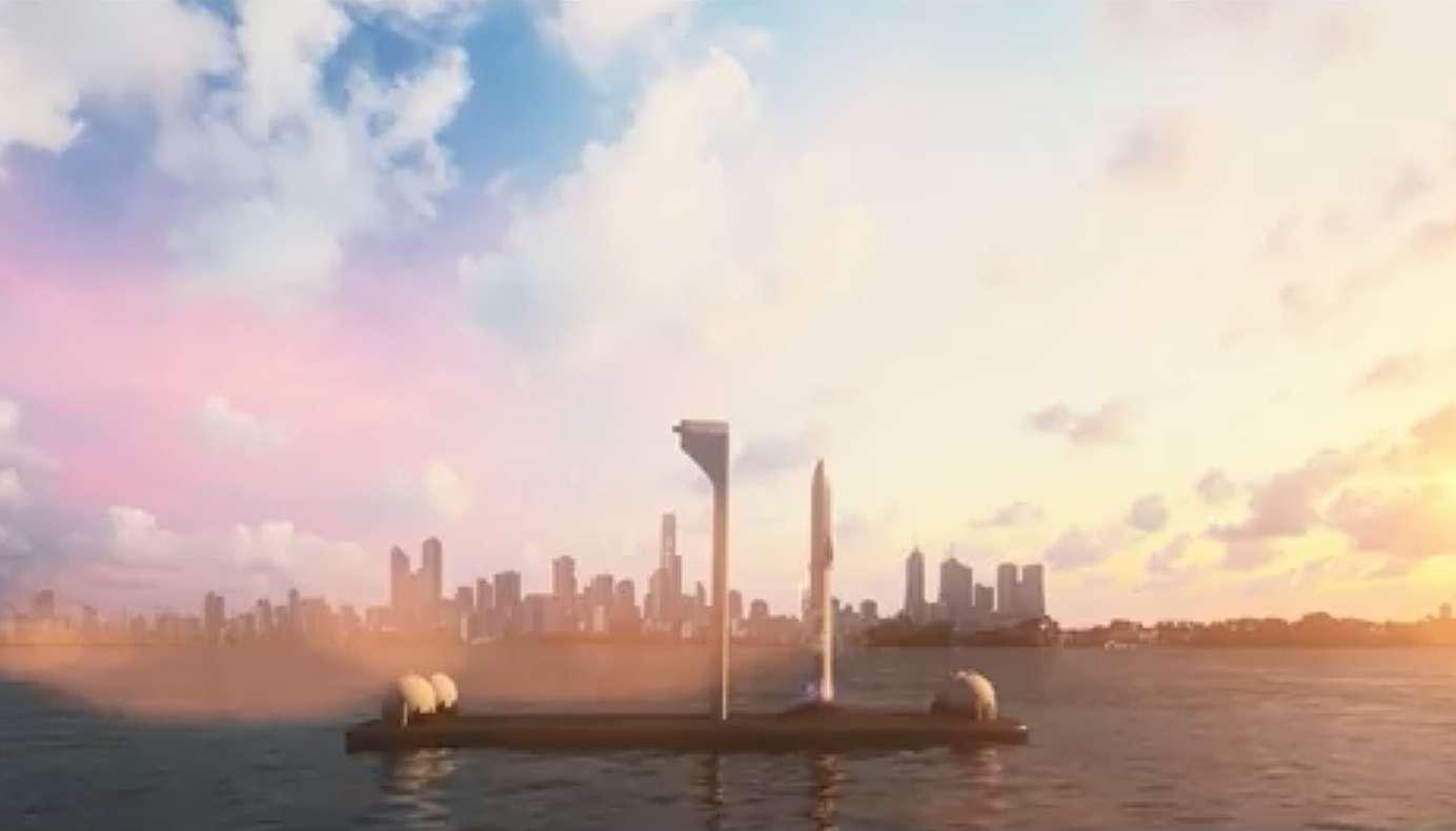 SpaceX veut construire des spatioports flottants