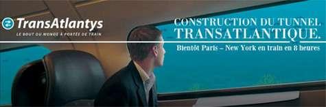 Tunnel sous l'atlantique du canular Transatlantys ... ou le Train transatlantique !