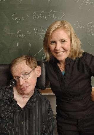 Stephen Hawking et sa fille Lucy. Crédit : Random House