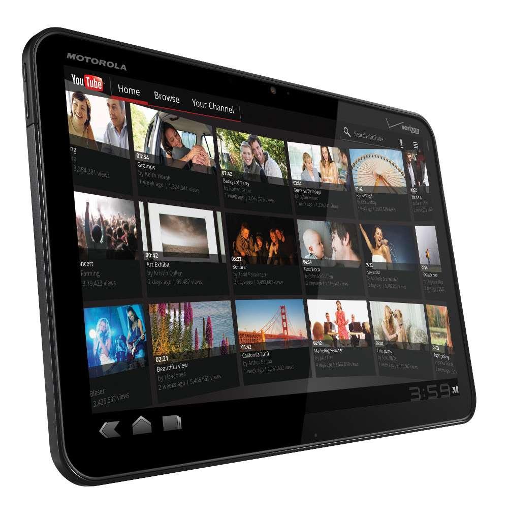 La tablette tactile Xoom de Motorola devrait être la première tablette capable d'afficher avec fluidité des animations Flash. © Motorola
