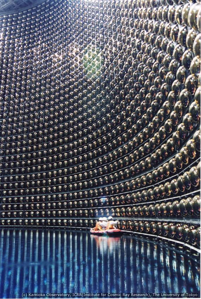 L'emblématique détecteur de neutrinos Superkamiokande en phase de remplissage. © Kamioka Observatory, University of Tokyo