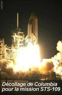 La mission STS-109 avec la navette Columbia se poursuivra