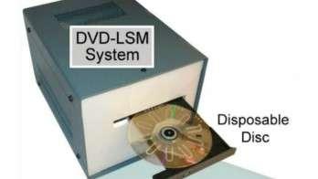 Détecter le VIH grâce à un lecteur DVD. Il fallait y penser, et certains l'ont fait. Avec ce procédé, les scientifiques espèrent mettre au point une méthode de diagnostic pour d'autres maladies. © Russom et al., Lab on a Chip