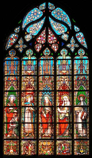 Le vitrail redessine souvent des portraits religieux. © Roby, CC BY-SA 3.0, Wikimedia Commons