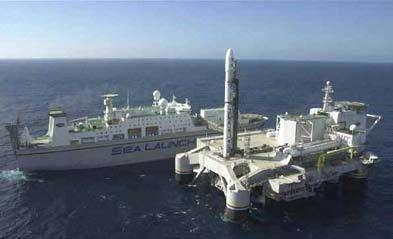 Sea Launch permet le lancement de satellites depuis une plate-forme semi-submersible