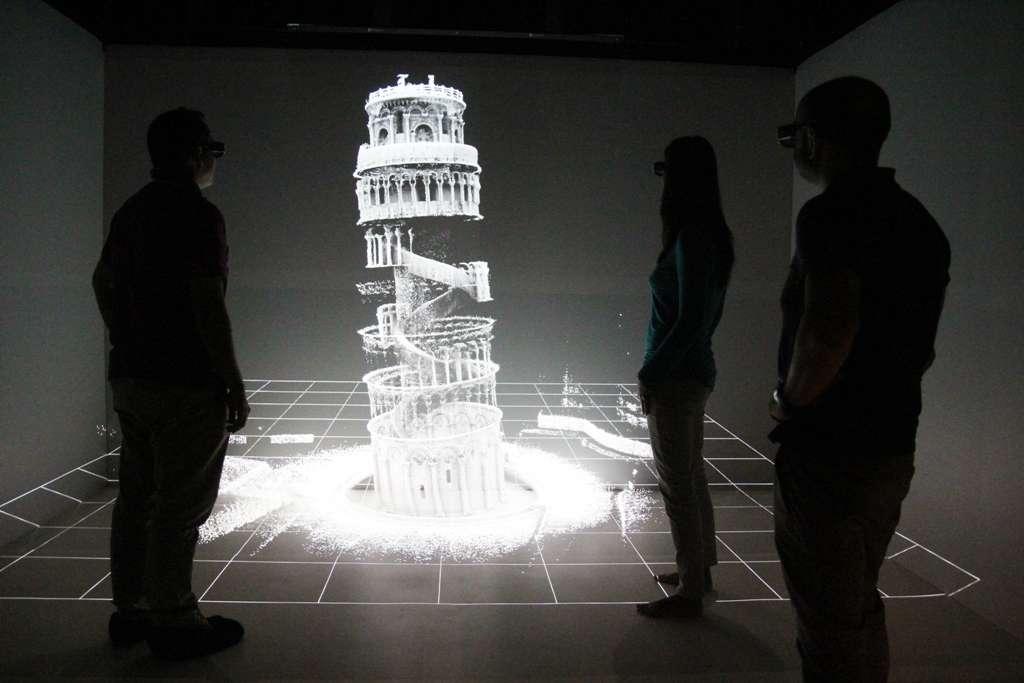 Le résultat final de la carte 3D de la tour de Pise, obtenue par Zedebee. © CSIRO
