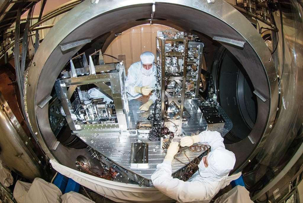 Des travaux sont actuellement en cours pour permettre la construction d'Advanced Ligo. L'interféromètre devrait partir à la chasse aux ondes gravitationnelles cette année. © MIT