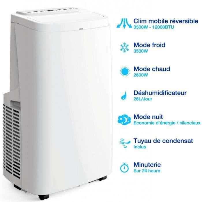 Bon plan : le climatiseur mobile réversible Airton © Cdiscount