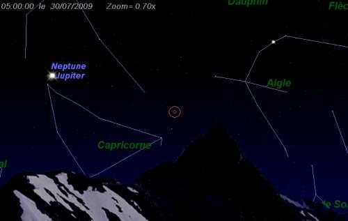 Maximum de l'essaim des météores des alpha-Capricornides