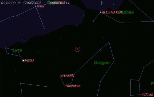 Maximum de l'essaim des météores des kappa-Cygnides