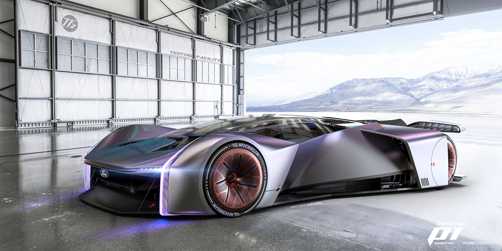 La Team Fordzilla P1 sera présente dans un jeu vidéo de course automobile à sortir l'année prochaine. © Ford