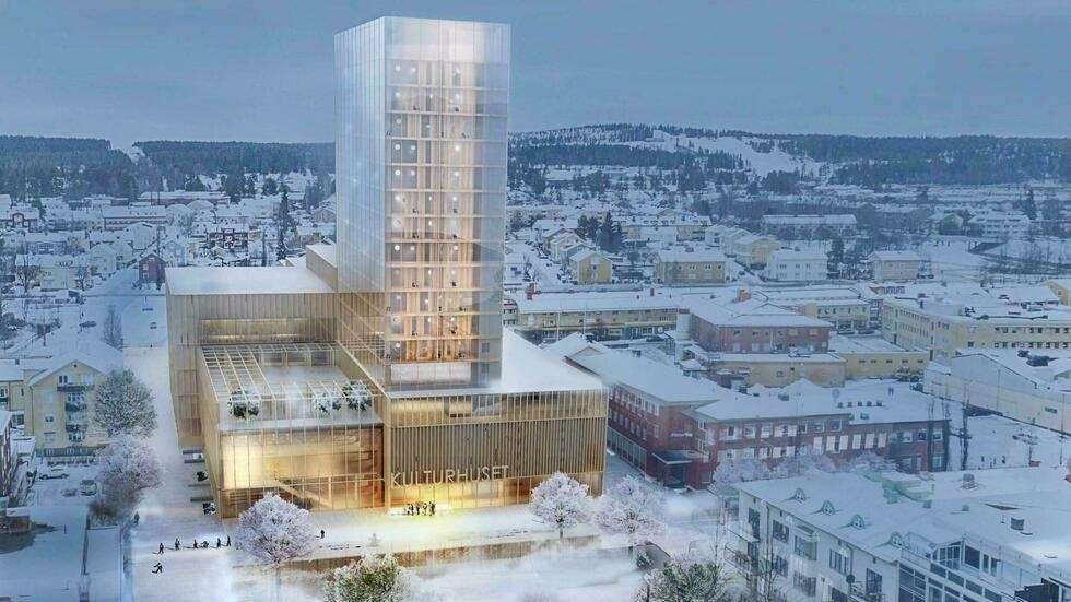 Le nouveau centre culturel de Skellefteå est entièrement construit en bois. © White Arkitekter, Twitter