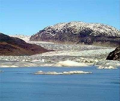 Le lac glaciaire de Témpanos, dans toute sa splendeur passée. Crédit image : Corporation nationale des forêts chiliennes.