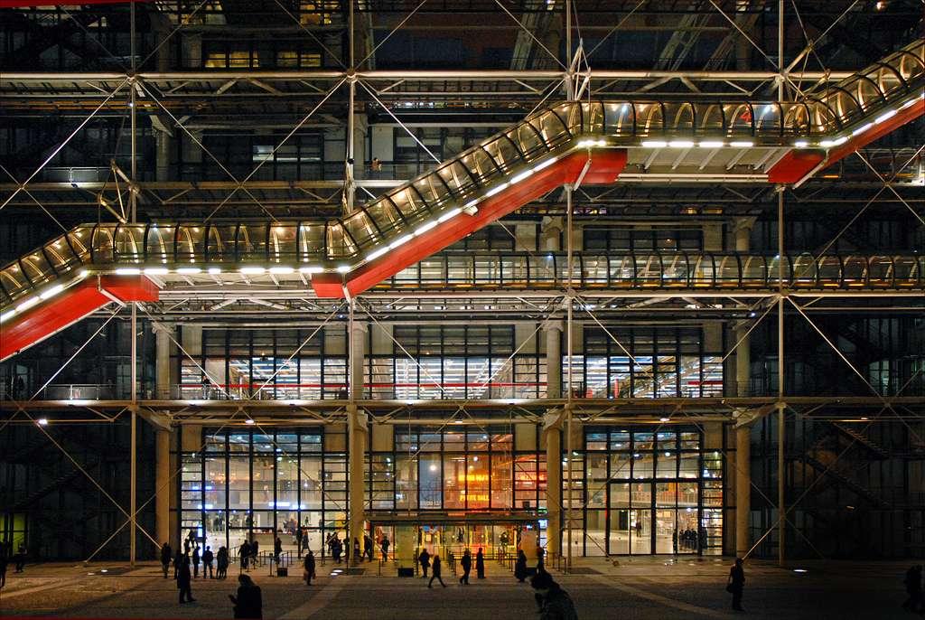 Le Centre Pompidou à Paris abrite la troisième collection d'art contemporain la plus riche au monde. © Dalbera, Flickr, cc by 2.0