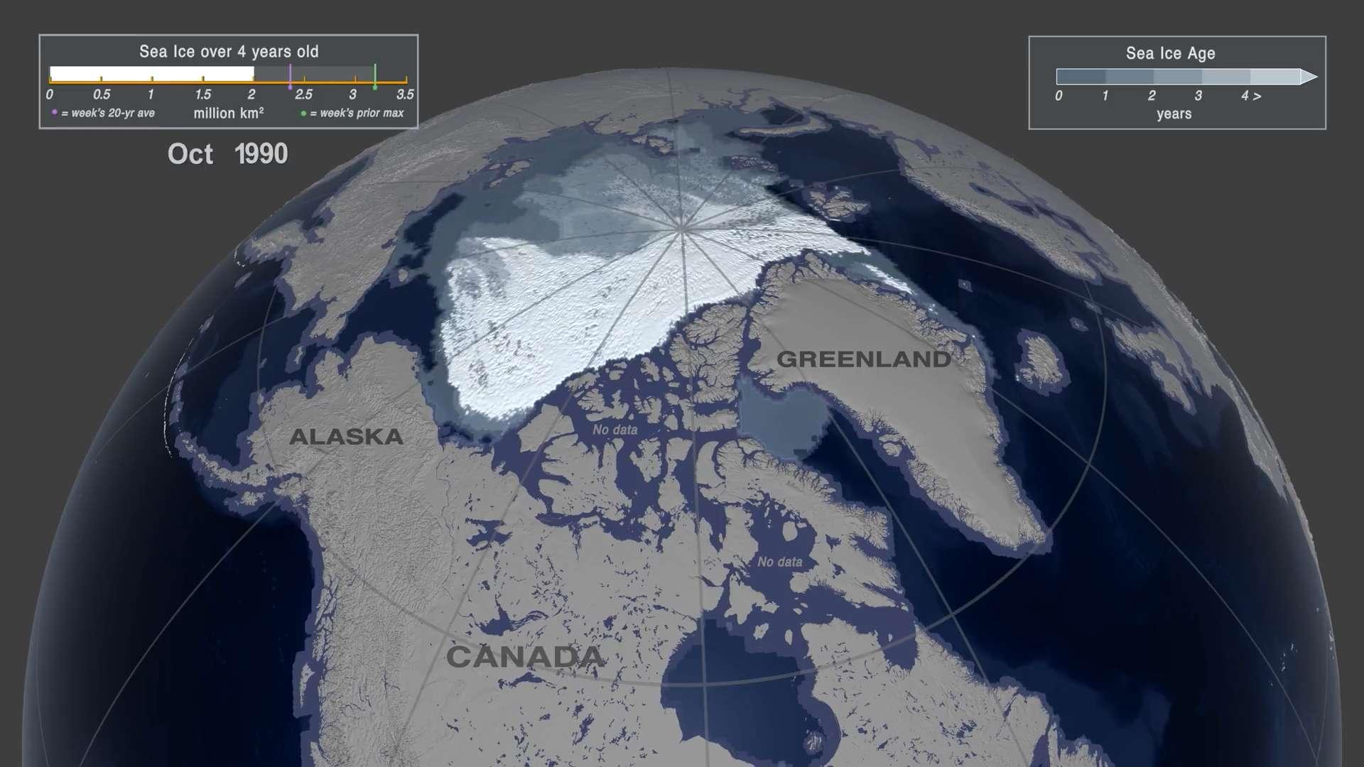 Il ne restera bientôt plus rien de la glace permanente en Arctique. © AGU, YouTube