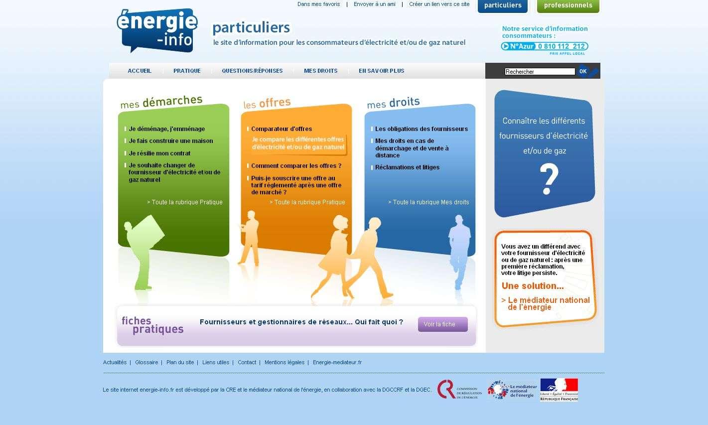 Page d'accueil du site Energie-info.fr - DR