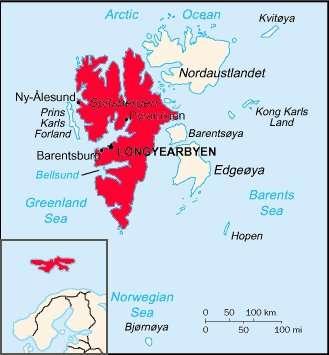 L'île de Spitzberg se situe dans l'archipel du Svalbard. © domaine public