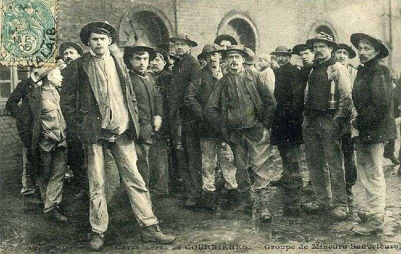 La silicose, maladie des mineurs, a fait l'objet de nombreuses études toxicologiques. © Compagnie des mines de Courrières, Wikimédia domaine public