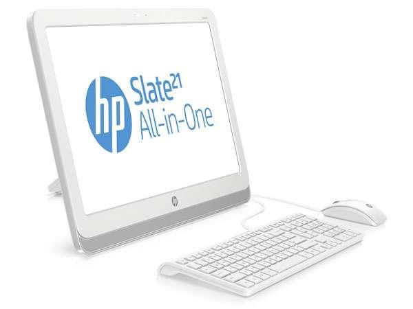 Attention, ceci n'est pas vraiment une tablette ! Le HP Slate 21 AIO est doté d'un processeur Tigra 4 de Nvidia et d'un écran 21,5 pouces, et se destine avant tout à la famille. © HP