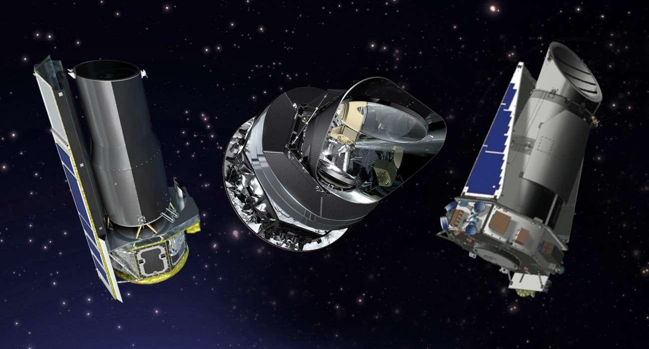 La Nasa vient de prolonger la durée de vie de plusieurs de ses missions spatiales dont celles des télescopes spatiaux Spitzer et Kepler et de sa participation à Planck de l'Esa. © Nasa