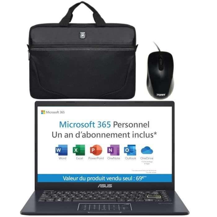 Bon plan : Le PC portable ASUS E410MA-BV1040TS avec tous ses accessoires © Cdiscount