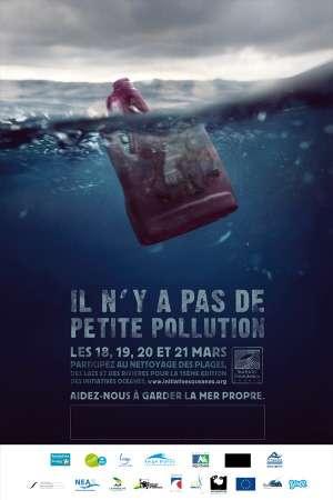« Il n'y a pas de petite pollution ». Les Initiatives Océanes ont pour but de sensibiliser les citoyens et les politiques à la problématique des macrodéchets en mer et dans les lacs. © DR