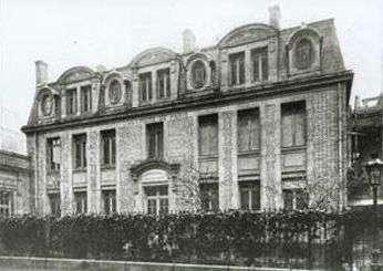 L'institut du Radium en 1939. Crédit: institut Joliot-Curie.