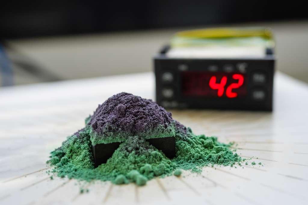 Les pigments intelligents d'OliKrom réagissent à la pression, à la température ou aux gaz. © OliKrom