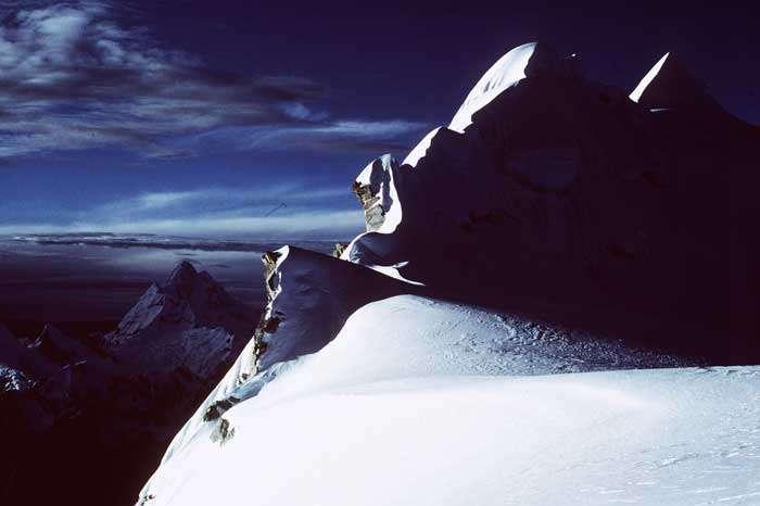 Les glaces de la cordillère des Andes