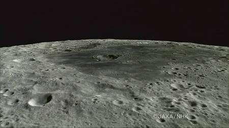 Cliquer pour agrandir. Toujours sur la face cachée de la Lune, le cratère Titov (31 km) dans Mare Mascoviense. Crédit : Jaxa-NHK