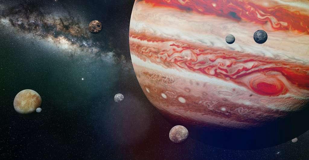 Les astronomes ont déjà observé de nombreuses lunes temporaires autour d'autres planètes. Autour de Jupiter notamment. Mais autour de notre Terre, la détection de mini-lunes reste rare. © dottedyeti, Adobe Stock