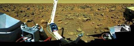 Panorama d'Utopia Planitia transmis par Viking 2