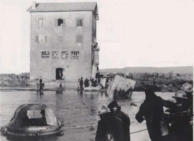 Vue des inondations à Fréjus. © DP