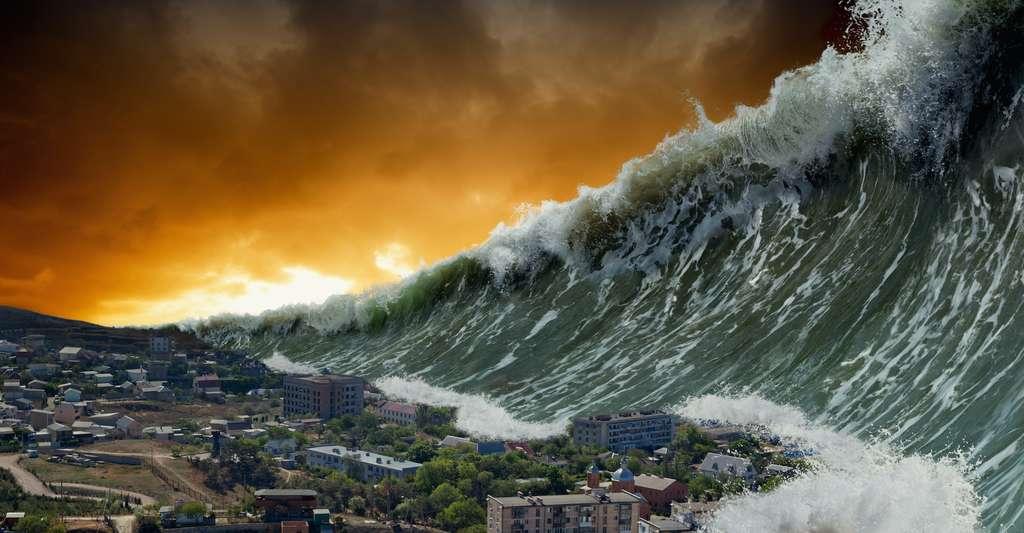 Si un astéroïde de la taille de 2002 PZ39 percutait la Terre, l'événement provoquerait une sorte de réactions en chaîne : des tremblements de terre, des tsunamis ou autres. © IgorZh, Adobe Stock
